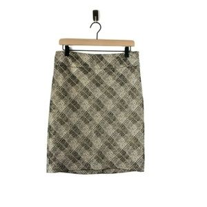 The Limited Metallic Plaid Pencil Skirt